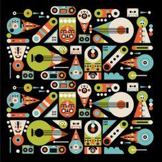 Argijale Illustration / Work / Spirit Music Festival