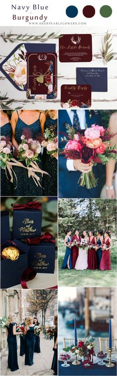 marsala burgundy and navy wedding color ideas # wedding colors … - Bridesmaid Dresses Berry Wedding, Chic Wedding, Fall Wedding, Dream Wedding, Trendy Wedding, Navy Wedding Colors, Burgundy Wedding, Wedding Color Schemes, Navy Flowers