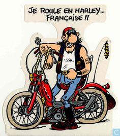 Autocollants - Margerin, Frank - Je roule en harley... Française