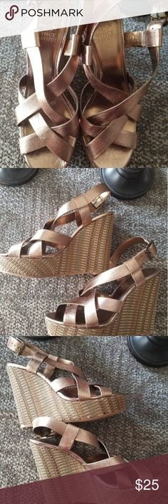 Vince Camuto Platform Wedges Size 8. NWOT. Great conditions. Please refer to pictures for quality details and thank you for visiting my closet ❤ Vince Camuto Shoes Platforms