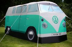 Volkswagen Bus Camper Tent. Actually considering getting one this year!