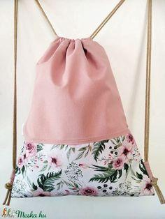 Virágszál kollekció, púder rózsa hátizsák, impregnált textil (laudi) - Meska.hu Drawstring Backpack, Backpacks, Fashion, Moda, Fashion Styles, Women's Backpack, Fashion Illustrations, Fashion Models, Backpack
