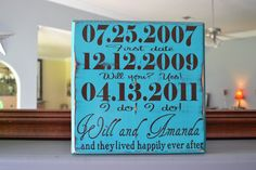 Personalized Engagement Gift, Wedding Gift, Engagement Present, Bridal Shower Gift. Happily Ever After.. $25.00, via Etsy.