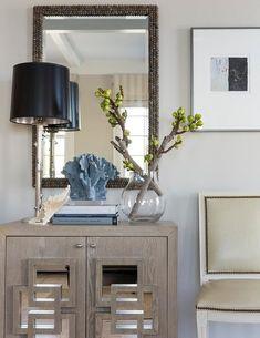 Gray foyer cabinet