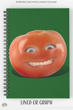 """* """"Smiling Tomato - Have a Nice Day!"""" Spiral Notebooks by #Gravityx9 