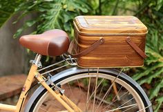 How To Create A Bicycle Crate Out Of A Vintage Picnic Basket Bike & friends DIY