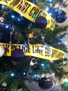 Police Department Christmas Tree