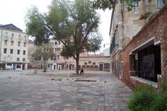 Campo del Ghetto, the center of the old Jewish quarter. Ghetto means foundry in Venetian dialect and there was once a cannon foundry in this location. This is the oldest Ghetto in the world.