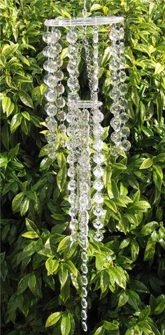 hanging outdoor crystals | You will love this garden wind chime, hanging it where it will catch ...