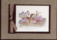 Friend Watercolor by Bev Barton - Cards and Paper Crafts at Splitcoaststampers Long Time Friends, Flower Cards, Stampin Up, Greeting Cards, Paper Crafts, Scene, Watercolor, Stamp Sets, Fall