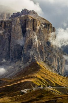 Passo Sella ~ high mountain pass in the province of Trentino and South Tyrol, Italy.