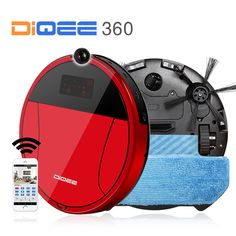 2017 Smart Robot Vacuum Cleaner for Home wireless Sweeping Dust Gyro navigation Planned Clean Phone App control camera DIQEE 360