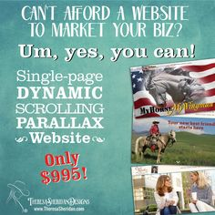A super dynamic, affordable way to get that professional website presence you need to accelerate your biz! Check it out at http://www.theresasheridan.com/one-page-dynamic-scrolling-website-with-parallax-effects/