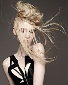 Long Blonde straight hairstyles provided by Royston Blythe.