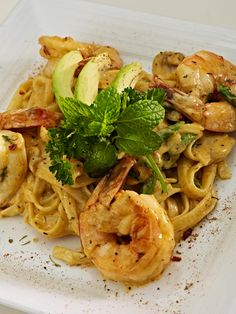 JERK SHRIMP PASTA, asparagus, mushrooms, asiago cheese, parmesan herb cream, linguini pasta     @ The Sheraton Lake Buena Vista Resort Orlando, FL