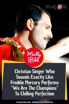 "Freddie Mercury is smiling down on this performance of ""We Are The Champions"" -- This is the truly remarkable vocal performance. #music #queen #freddymercury Christian Rock Bands, Christian Singers, Best Songs, Awesome Songs, We Are The Champions, Music Sing, Queen Freddie Mercury, World Records, Kinds Of Music"