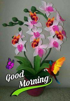 Good Morning Roses, Happy Morning, Good Morning Greetings, Good Morning Beautiful Images, Beautiful Love Pictures, Beautiful Flowers, Good Morning Gif Images, Morning Pictures, Morning Pics
