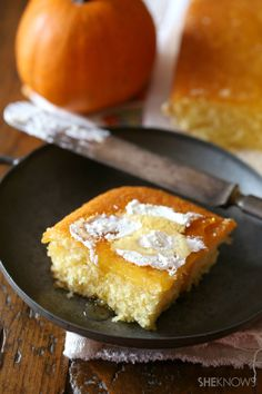 Pumpkin and honey cornbread