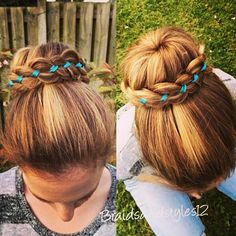 DIY Lace Bun , 4 Strand Lace Bun https://www.youtube.com/channel/UC8ouEGIBm1GNFabA_eoFbOQ