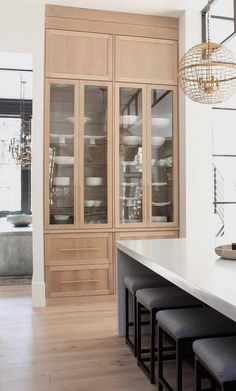 Floor to ceiling kitchen storage cabinet. A pantry for dishes and whatever storage you need in the kitchen