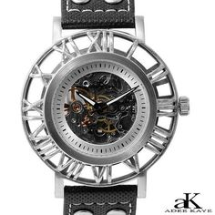 NEW AUTHENTIC ADEE KAYE SILVER STAINLESS STEEL AUTOMATIC WATCH