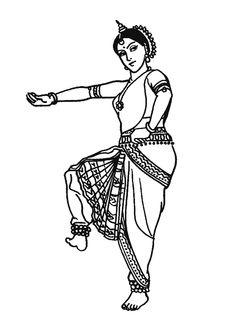 ACTIVITE - Coloriage danse indienne