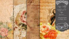 Artsy Collage Background 03 - Vintage Parfumerie
