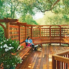 built in seating for backyard | Deck Design Ideas: The Tips and Pictures