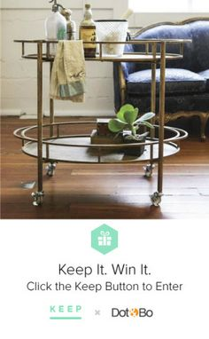 I've wanted this bar cart forever! cc: @lindsay eller and @Dot & Bo! #KeepItWinIt