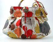 #FlowerShop  floral bag, small and sexy purse, handbag, mini tote, shoulder bag. $65.00, via Etsy.