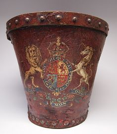 Antique c.1800 English Leather Fire Bucket