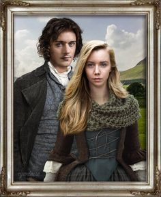 Fergus & Marsali – Outlander ... César Domboy and Lauren Lyle • Fanart by cyanbrise •