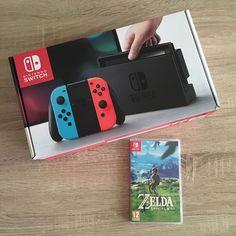 Arrivage de la #NintendoSwitch avec #ZeldaBreathoftheWild