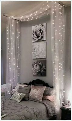Cute Room Decor, Room Decor Bedroom, Home Bedroom, Modern Bedroom, Diy Room Decor For Girls, Master Bedrooms, Warm Bedroom, Curtains For Bedroom, Kids Bedroom Ideas For Girls