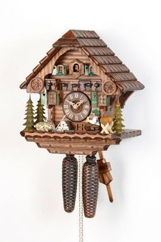 Cuckoo Clock 8-day-movement Chalet-Style 30cm by Hekas - 879