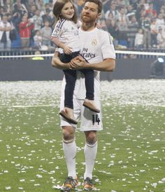 Xabi and his daughter Anne