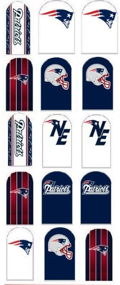 New England Patriots Nail Decal by IrocHipHopNailDecals on Etsy