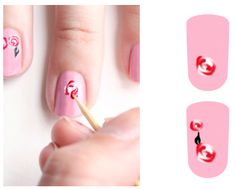 Rose nail tutorial - great technique for cookies!