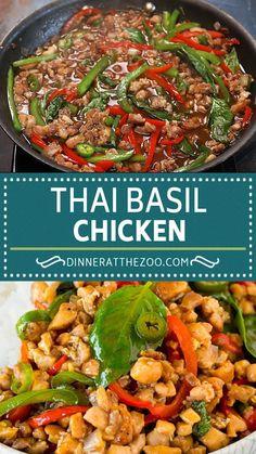 Thai Basil Recipes, Asian Recipes, Mexican Food Recipes, Best Chicken Recipes, Beef Recipes, Cooking Recipes, Lunch Recipes, Healthy Dinner Recipes, Vegetarian Recipes