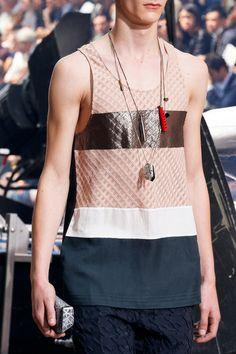 Lanvin SS14 Menswear - necklaces