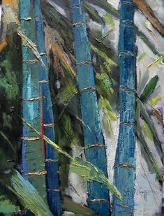 Tree Landscape bamboo painting daily painting by CarolSchiffStudio, $89.95