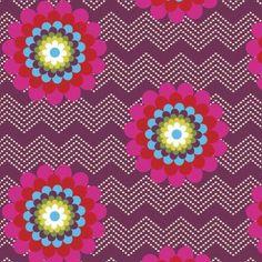 http://www.plushaddict.co.uk/windham-fabrics-mosaica-chevron-floral-purple.html Windham Fabrics - Mosaica Chevron Floral Purple