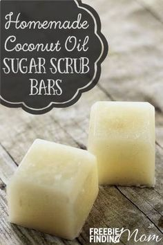 A day at the spa not in your budget? No problem, give yourself (or a friend) a luxurious spa feeling with these homemade coconut oil sugar scrub bars without the hefty price tag. These all natural homemade sugar scrub bars will gently exfoliate and clean your skin, leaving your skin feeling hydrated, smooth and soft. You can customize this easy DIY recipe by substituting your favorite essential oils. These homemade coconut oil sugar scrub bars also make great DIY gifts.