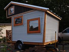 Lots of great interior storage ideas! Love this little house on wheels...