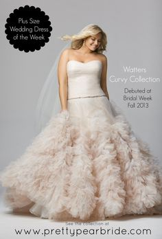 {Plus Size Wedding Gown of the Week} Watter's New Curvy Collection from Wtoo ~ Style 12603 Allegra | The Pretty Pear Bride