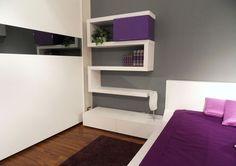 Modern Bedroom Design with Unusual Furniture Purple Bedroom Design, Bedroom Wall Designs, Modern Bedroom Decor, Stylish Bedroom, Bedroom Vintage, Contemporary Bedroom, Modern Wall, Bedroom Furniture, Purple Bedrooms