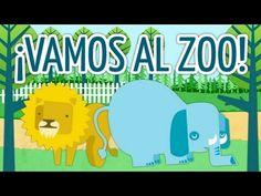 Aprende los animales. El zoo: el león y el elefante