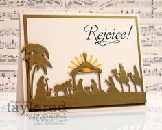 Gorgeous Rejoice card by Wanda Guess #Christmas