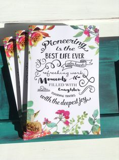 Pioneering is The Best Life Ever Notebook   jw ministry  jw #jwgifts
