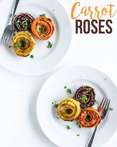 Make Your Dinner Plate Beautiful With These Totally Awesome Carrot Roses